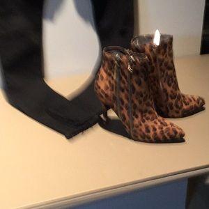 Women's Leopard Ankle Boots